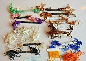 Vintage Colors 15 Skeins Strandstreen Rayon Embroidery Floss J&P Coats Clarks