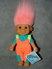 """Troll Doll 7"""" Russ Travis Boppin in Jumper Overalls with tag"""