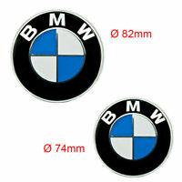 Neu 82MM + 74MM BMW Emblem Auto Vorne Motorhaube Heckklappe Hinten Kofferraum