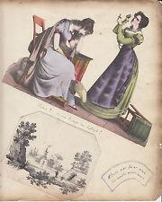 « chatarra » página del álbum con 1824 Dieux! si un homme me battait! Grabado Por Scheffer