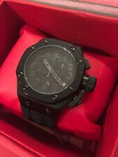 Swiss Legend 10541-BLK Men's Trimix Diver Chronograph Watch Black New in Box!