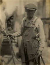 Doris ULMANN: Untitled (Man with reins), c. 1915 / VINTAGE / Platinum / SIGNED!