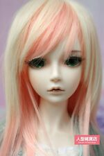 BJD Doll Hair Wig 9-10 inch 22-24cm Blond Pink 1/3 SD DZ DOD LUTS E40