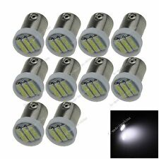 10X White BA9S 57 W6W 3 7020 SMD LED License Plate Light Map Bulb Dome Lamp K004