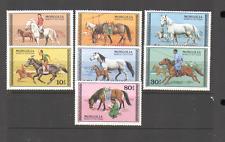 Mongolia 1977 Caballos/animales/naturaleza 7 V Set ref:n15558