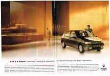 PUBLICITE 1993    RENAULT  CLIO 1.9L DIESEL (2 pages)