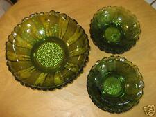 BEAUTIFUL green salad bowl with 6 serving bowls RARE