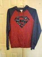 BRAND NEW DC COMICS SUPERMAN ZIP UP HOODED SWEATSHIRT