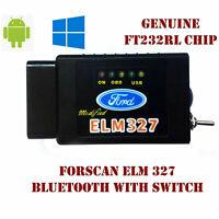 Forscan Bluetooth ELM327 Diagnostic Scanner Tool Switch OBD2 Ford Mazda LFW JK