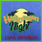 HALLOWEEN NIGHT Title Embellishments Paper Piecing card making and scrapbooking