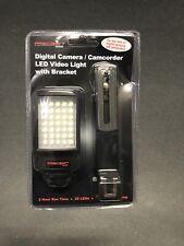 Precision Design Digital Camera / Camcorder Led Video Light With Bracket.