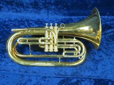 King 1124 Marching Baritone Ser#791599 Nice Round Sound Top to Bottom