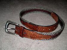 Vintage Women's Genuine Leather & Horse Hair Western Belt Size 32