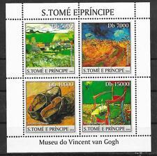 Pinturas-Van Gogh/San Tomé et principe MiNr 2535/38 ** pequeños arcos