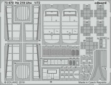 Eduard 1/72 Heinkel He 219 Uhu Detail Set for Dragon (2 sheets)