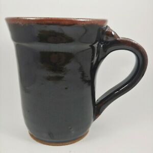 Deb Kenoyer HANDMADE Glossy Black Pottery Mug - 20oz Jumbo Oversized Coffee Cup
