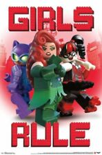 "LEGO BATMAN ""GIRLS RULE"" POSTER - 22x34 - 14616 with Sticky Tack"