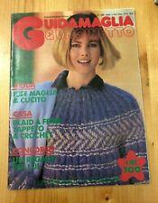 Guida maglia e uncinetto n. 137 1985 plaid a ferri tappeto a crochet