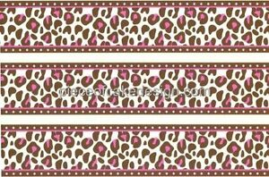 Pink Cheetah Print Cake Border Edible  Cake Border