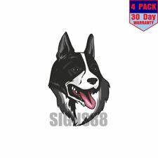 Karelian Bear Dog 4 pack 4x4 Inch Sticker Decal