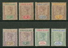 Leeward Islands  1890  Scott # 1-8  Mint Hinged Set
