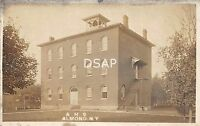 New York NY Postcard Real Photo RPPC 1913 ALMOND High School Building
