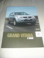 Suzuki Grand Vitara 5 Door range brochure Apr 2008