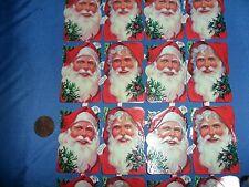 Vintage Santa face stickers Decoupage