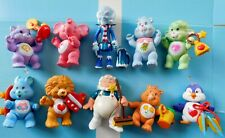 "1983  3.25"" POSEABLE PVC CARE BEAR, COUSINS & FRIENDS  w/ACCESSORIES  Kenner VGC"