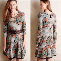 Anthropologie Saturday Sunday Dress Floral Boho Fit Flare Women Small EUC Boho