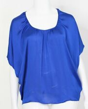 BNWT WITCHERY Womens Size 12  Designer Cobalt Blue Silk Feel Top Blouse RRP $129