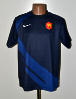 FRANCE RUGBY UNION SHIRT JERSEY NIKE SIZE L ADULT