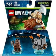 New Lego Dimensions Fun Pack 71220 LOTR LORD OF THE RINGS GIMLI and AXE CHARIOT