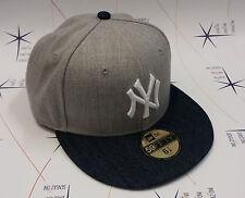 Cappello New Era originale NY Yankees grigio denim nfl 59 FIFTY Hip Hop