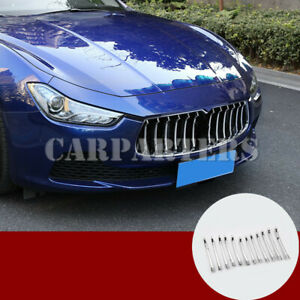 For Maserati Ghibli ABS Chrome Center Grille Grid Molding Trim Cover 2014-2017