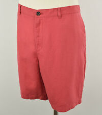 MICHAEL KORS Mens Nantucket Red Linen Blend Flat Front Shorts Size 38 NWT