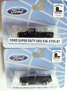 HO RIVER POINT STATION : TWO Ford F-350 DRW Dually / Duallies 1-BLACK AND 1-GRAY