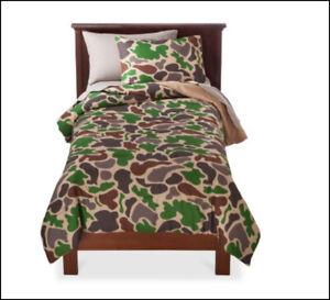 7 Piece- CAMOUFLAGE Camo Reversible Comforter + Shams + Sheet Set - FULL 🌟NEW🌟