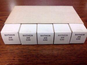 SLEEVE OF 5  RAYTHEON JAN6286, 6286, TUBES