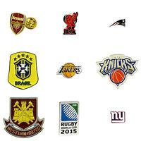 Official Premiership NBA NFL Football Basketball Teams Pin Badge Souvenir's