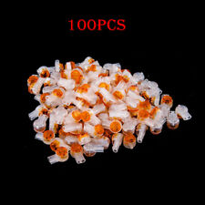 100Pcs UY2 Butt Type Scotchlok Connectors Grease Filling Butt Wire