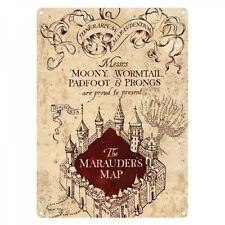 Harry Potter Marauders Map Tin Sign 15 x 21cm A5