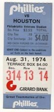 Phillies Ticket Stub 1974 vs Houston