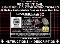Resident Evil Umbrella Corp Customised Cosplay Prop Costume Comic Con Christmas