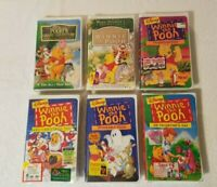 Lot Of 6 Winnie the Pooh VHS Movies Brand New Factory Sealed With Rare Inserts