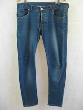 Men's Fred Perry Size 38 Distressed Denim straight leg Jeans $89