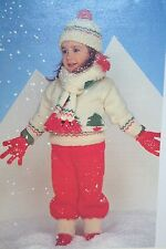 Childs Christmas Jumper, Trousers, Hat and Scarf Knitting Pattern (CK007)