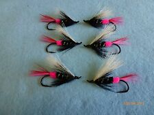 Steelhead Salmon Trout  Brite Butt Pink #4 Flies US Alaska Canada  (X6)