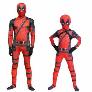 Halloween Kids Boys Mens Deadpool Superhero Cosplay Costume Party Fancy Dress