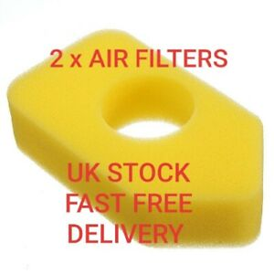 2 X Lawn mower air filter replacement for Briggs and Stratton petrol engines.